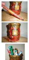 Clay Covered Glass Vase by Brisbykins