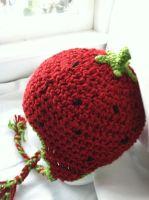 Crochet Baby Hat - Strawberry by NerdStitch