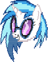 Vinyl Scratch ASCII art by LlodsliatLNS