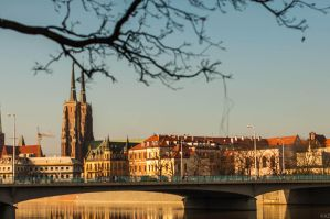 View on the Cathedral in Wroclaw by azabek