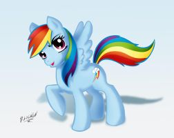 RAINBOW DASH by darksteelLycaon
