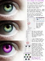 Changing Iris Colour Tutorial(GIMP) by H3llzAng3l