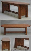 Mackintosh Bed-End Bench by DryadStudios