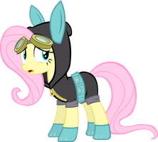 Fluttershy's Dangerous Mission Outfit by Zvn