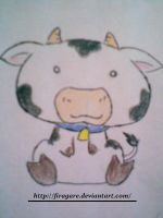 Chibi Cow by firagare