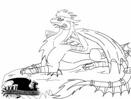 Possible Returning Megadragon Design lineart by ShardianofWhiteFire