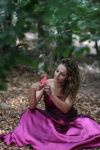 pink fantasy dress. by Nataly-Stock