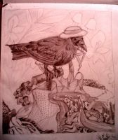 crow? raven? who knows?-setup by stoopidity