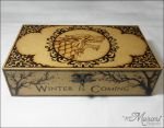 House Stark - Game of Thrones Pyrography by dcmorais