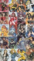 Dangerous Divas Sketchcards by Csyeung