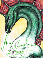 ACEO 34 - Merry Christmas Saer by DragonOfSilverStars