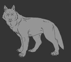 Wolf Lineart by Wolven-Sister