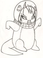 Charmander Natsu! (Inked but not colored) by EvilMonkeyFloofin