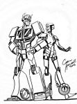 Optimus and Mas by IAmTheWhiteReaper