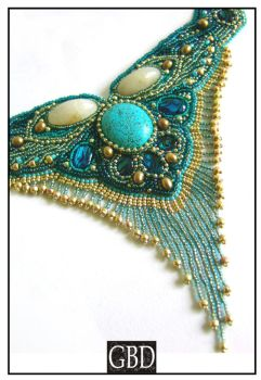 Turquoise Princess Detail by gbdreams