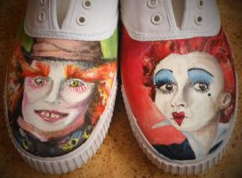 Mad Hatter shoes close up by StaticSkies