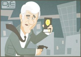 Leslie Nielsen by johnnymartini