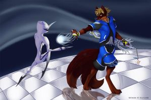 Kingdom Hearts Poster Detail - 2 by Silvixen