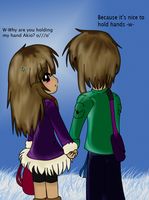 .:Holding Hands:. by Monkey-Girl146