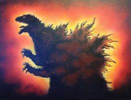 Godzilla, King of The Monsters by PaulSpatola
