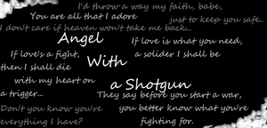 Music Poster: Angel With a Shotgun by TheAsianQueenOfRussi