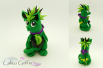 Verti the baby griffin - polymer clay sculpture by CalicoGriffin