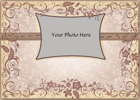 5x7 Floral Tan Card Collage - PSD PNG by BlissfuLLimaging