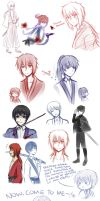 Rurouni Kenshin Sketch Dump by Awesomeness02