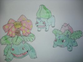 Bulbasaur's Evolutions by koala-net