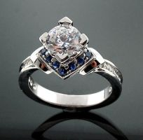 diamond engagement ring by diamondring35