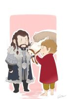 Thorin and Bilbo by GorryBear