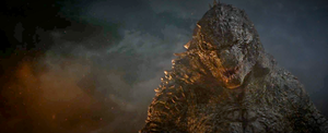 Godzilla 2014:  The King's Snarl by sonichedgehog2