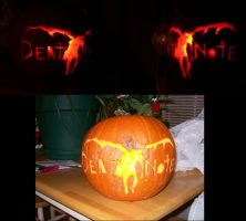 Death Note Pumpkin by bessalania