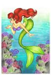 Ariel and Sea Fans by Mermaid-Kalo
