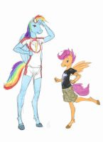 anthro dash n' scoot by Siansaar