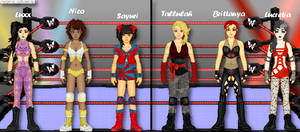 MyWWE: 3-Man Divas Tag Team Action by TerenceTheTerrible