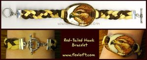 Red-Tailed Hawk Tagua Bracelet by Foxfeather248