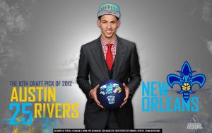 Austin Rivers New Orleans Hornets by PFDesigns