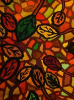 Stained glass leaves by TacoDestroyerAvenger