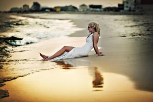 Beach Bride by MikeRossPhotography