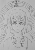 Music Is My Life (no colour) by ponyhallo1