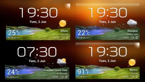 Accuweather S Widget v1 for xwidget by jimking