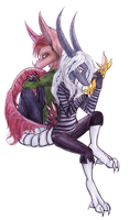 Syn and Ceil by drawitout
