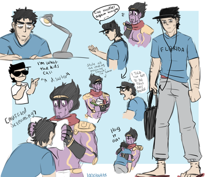 college kid jotaro by 1000butts