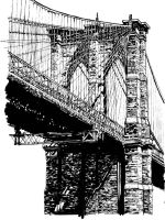Brooklyn Bridge 02 Inks by PSNaddw