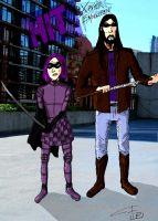Hit Girl and Xavier Enrikchen colored by FG-Arcadia