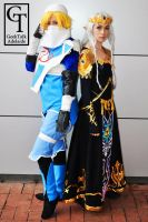 sheik and Zelda by fiery-dragon