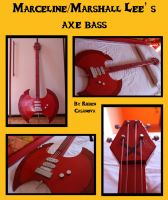 My Marceline/ Marshall Lee' s axe bass by Linebeckart