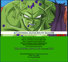 Commission Journal Skin for Sauron88 by BrightenYourSmile