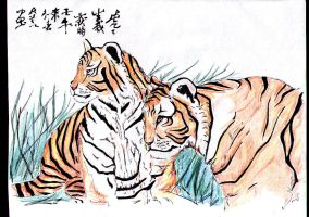 tigers by Asasel-chan